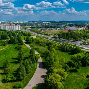 9th may 2018. South-West of Minsk sity, Belarus. Panorama.